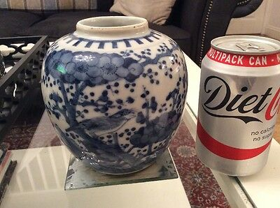 19Th C Chinese Porcelain Blue And White Objects Prunus Jar
