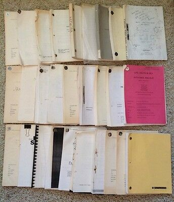 28 Film & TV Scripts from 1970's to 1999. Own your Bit of Film & TV History