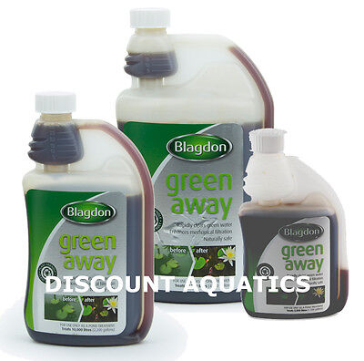 Blagdon Green Away Pond Algae Cloudy Water Treatment Interpet Harmless To Fish