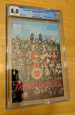Transformers: More Than Meets The Eye #12 RI Coller Retailer Incentive CGC 8.0