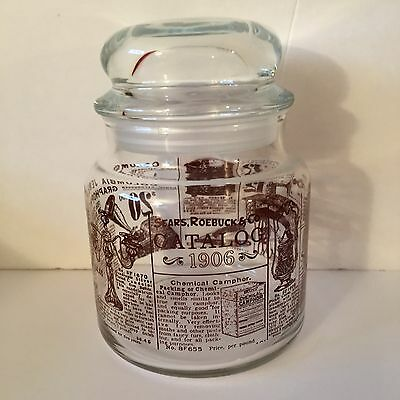 Sears Roebuck 1906 Catalog Reproduction Glass Candy Jar & Topper