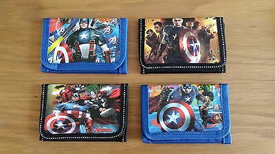 New Avengers Captain America Tri Fold Wallet / Purse 4 Designs Free UK Postage