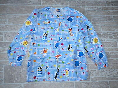 Nick Jr Lab Coat Scrub Jacket Small S Long Sleeve