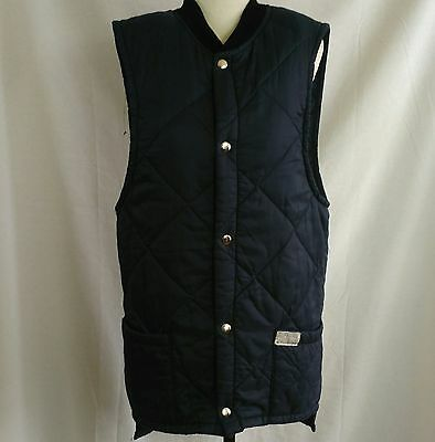 Vintage TUFFMAN By Travex Mens Size S Cooling Work Vest Lightweight Quilted Blue