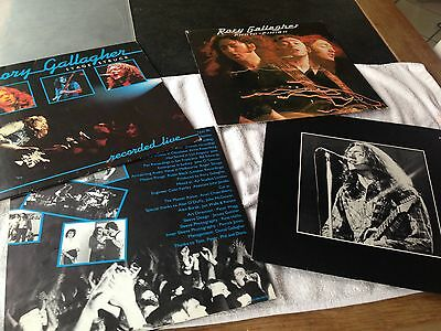 Rory Gallagher  2 X Lp Photo-Finish & Stage Struck Live