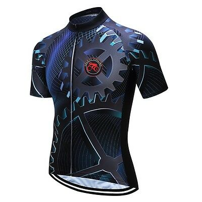 Black Cycling jersey Men Bike Jersey top Ropa Ciclismo  MTB bicycle clothing