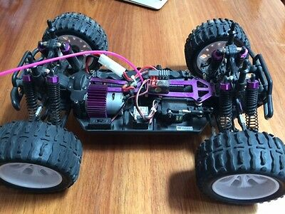 Used 1/10 RC Car 2.4Ghz  Monster Truck + Lipo Battery