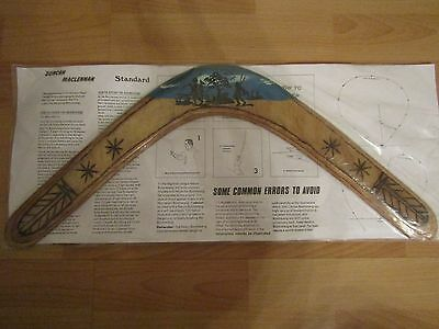 Boomerang Duncan Maclennan Wooden Painted And Vanished Unused In Packet