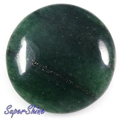 33 Cts  NATURAL GREEN AVENTURINE ROUND CABOCHON LOOSE GEMSTONE