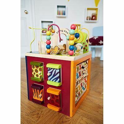 B. Zany Zoo Wooden Activity Cube - 5 sides of play -  Brand New