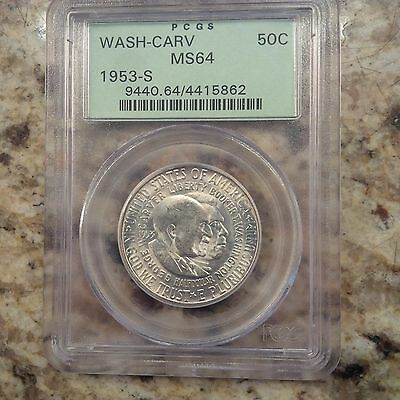 1953-S Washington-Carver 50C Silver Commemorative PCGS MS-64