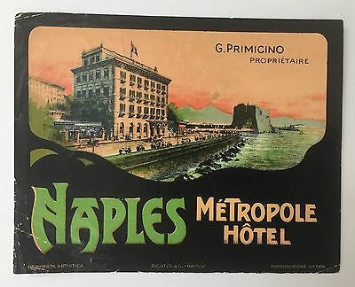 Luggage Label Hotel metropole, Naples - Italy (Richter)