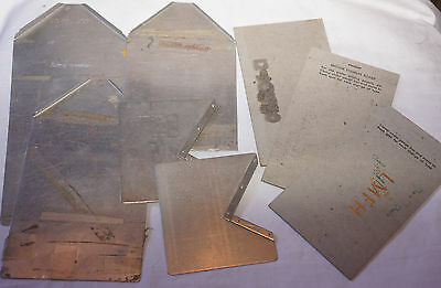 Vintage Lot Parts Cushion Napkin guides for Kingsley Machine Hot Foil Stamping