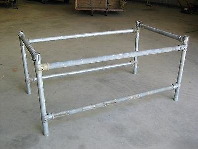 Work Bench Base - 2 Inch Gal Pipe Base, Just Needs A Top!