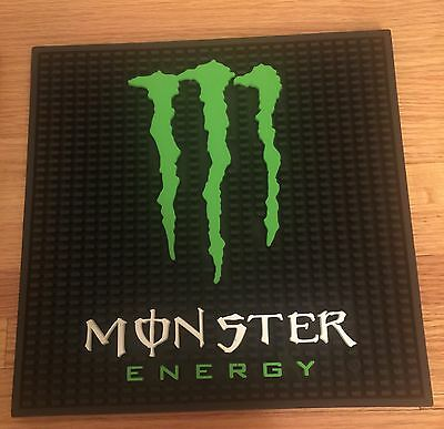 Monster Energy Bar Mat NEW In Original Packaging Comes With 6 Monster Stickers!!