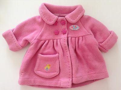 Zapf Creation Baby Born Woollen And Lined Winter Coat- Good Preloved Condition!