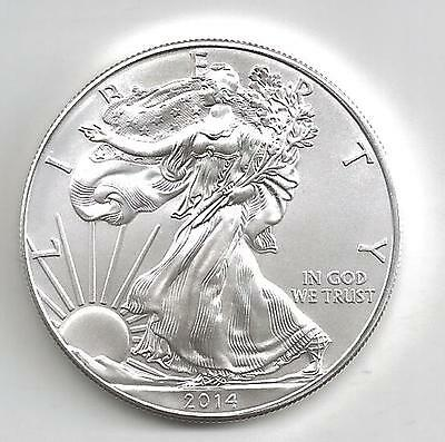 United States: American Eagle One Ounce Silver Coin 2014, Silver, Liberty