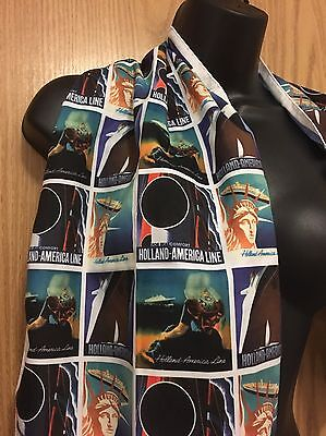 Holland-America Line Scarf Womens One Size Statue Of Liberity Nwot Msrp $25