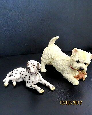 """2 Cute Collectable Dogs - 1 Is A """" Schleich """" German Ornament"""