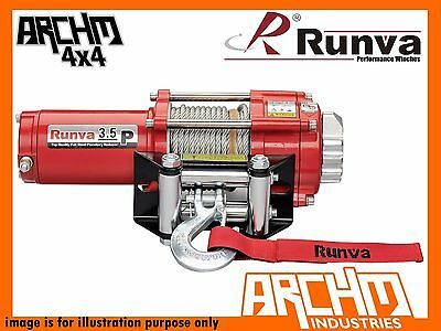 Runva Atv Series 24V 3500Lb / 1588Kg With Steel Cable Recovery Winch
