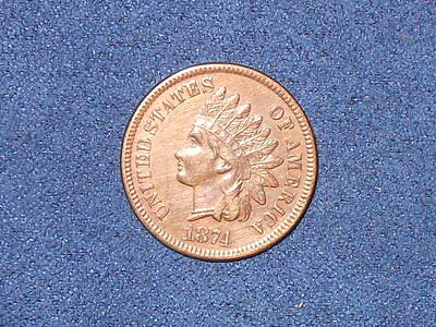 1874 1C RB Indian Cent  ~XF?~