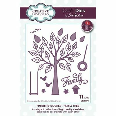 Creative Expressions Family Tree Finishing Touches Craft Dies CED1471