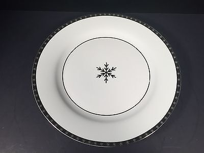 Target Onyx Ice Arctic Solstice First Frost Dinner Plate Silver Snowflake Home