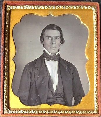 Handsome Gentleman Glaring At Camera Styled Hair Suit 1/6 Daguerreotype D305
