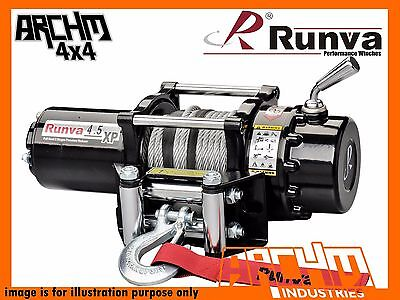 Runva Atv Series 12V 4500Lb / 2041Kg With Steel Cable Recovery Winch