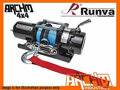 Runva Atv Series 12V 4500Lb / 2041Kg With Dyneema Rope Recovery Winch