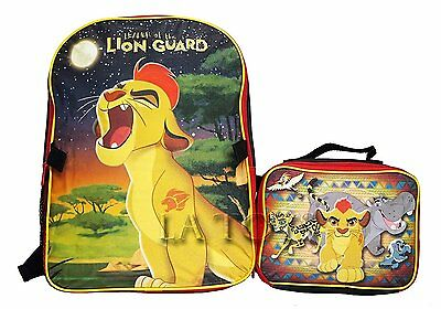 "Leader Of The Lion Guard 16"" Large School Backpack Plus Lunch Bag"
