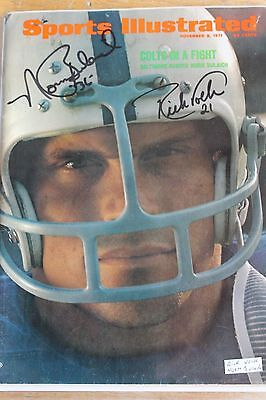 Sports Illustrated  Baltimore Colts  signed  1971 Rick Volk & Norm Bulach Cover