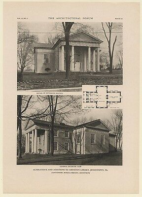 1920 Abington Library Jenkintown PA Architecture Photos 1-Page Article