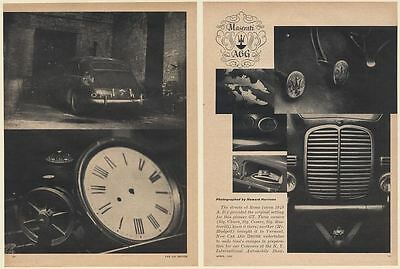 1963 Maserati A6G 1500 Returning to 1949 7-Page Article