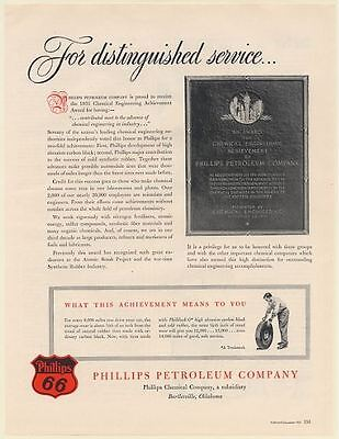 1951 Phillips 66 Petroleum Co Chemical Engineering Achievement Award Print Ad