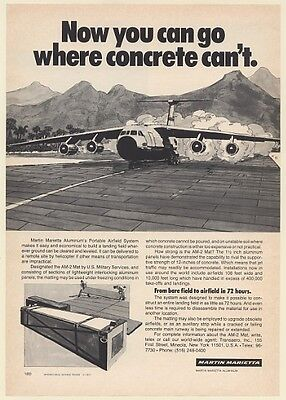 1977 Martin Marietta Aluminum Portable Airfield Military AM-2 Mat Print Ad