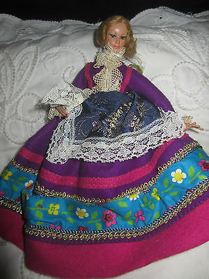 European collectible Old Folk Girl lady doll toy Made Italy by Gimbels VENEZIA