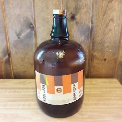 1960's Vintage A & W Root Beer Amber 1 Gallon Jug From Estate Sale  -NICE!