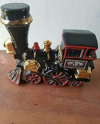 Whiskey Decanter Ezra Brooks Train Engine Vintage