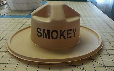 Vintage Brown Smokey Bear Plastic Hat Collectable