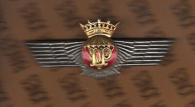 SPAIN Airborne Instructor Rigger parachute Wing badge 1957-76 3.75""