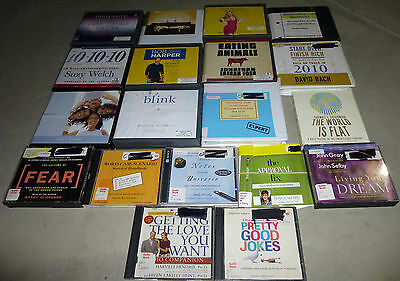 Lot of 19 Self Help Nonfiction Audiobooks on CD