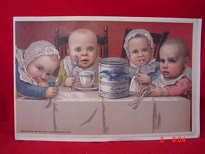 Vintage Eagle Brand Babies 16In X 11In Poster Reprint New