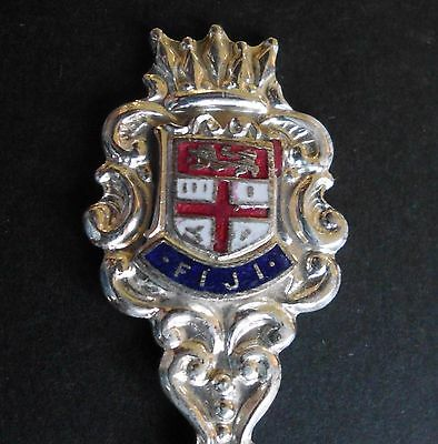 Souvenir Spoon - FIJI, Coat of Arms, silver plated, Exquisite EPNS