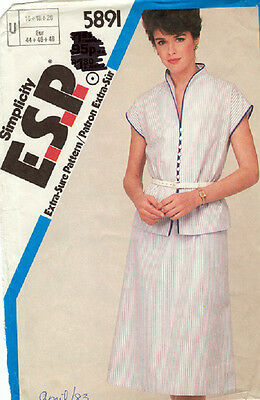 Simplicity Pattern 5891 - Misses 2 Piece Dress - Size 16-18-20