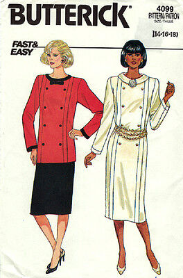 Butterick Pattern 4099 - Misses Dress-Top-Skirt - Sizes: 14-16-18