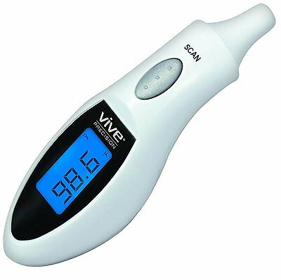 Ear Thermometer by Vive Precision - Best Digital Medical Thermometer - Infrared