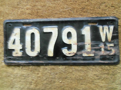 1915 Wisconsin License plate original Paint  1915  Ford  Model T? original paint