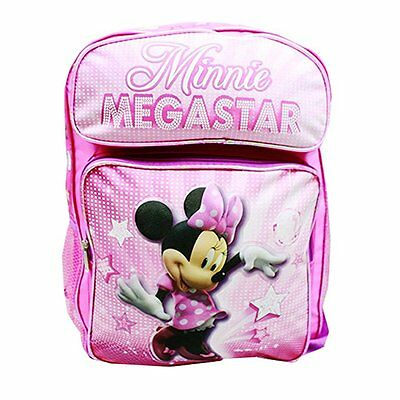 "Disney Minnie Mouse 16"" Large School Backpack Pink"