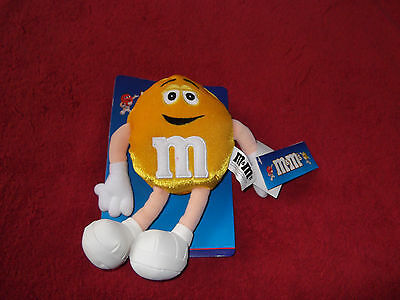 """M & M's---Yellow--8"""" Plush -New With Tags & Pkg.--Cute!"""
